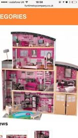 Mansion dolls house complete with furniture . Immaculate condition . Only 1 years old .