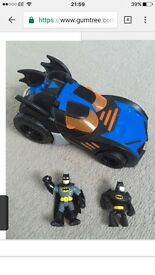 Imaginext batman car and 2x figures