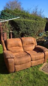 £30...Suede Recliner 2 Seater Sofa (needs to go asap)..Can Deliver locally