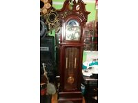 Windsor grandfather clock 31 day striking clock,wind six foot eight inches high.full working