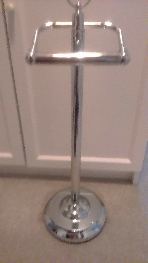 Toilet Paper Roll Holder Stainless Steel Freestanding