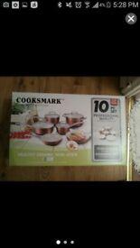 cooksmark.. NON STICK 10 PCS BRAND NEW(box)..07404974189 leo