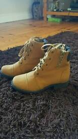 Camel lace up boots size 4