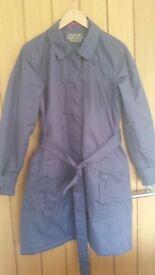 Ladies Blueberry Regatta ISOTEX500 3/4 Length Waterproof Raincoat 16 VGC