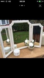 A SHABBYCHIC DRESSING TABLE MIRROR