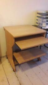 Nice wood pc desk