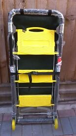 BRAND NEW 2 in 1 Folding Trolley with 3 Step Ladder and tool bag