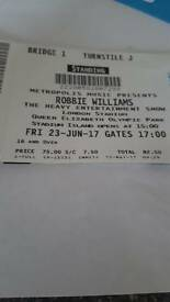 Robbie Williams X2 Standing tickets