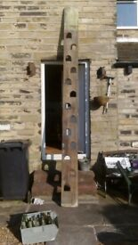Vintage, 13 step / hand hole Pine Jacobs Ladder in used condition