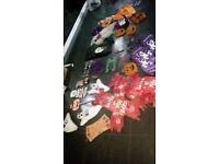 mixture of halloween decorations