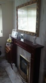 Fire surround marble back plate and marbke hearth