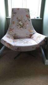 Lilac flower swivel feature funky chair