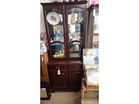 Wooden display cabinet in good condition free delivery available or collection