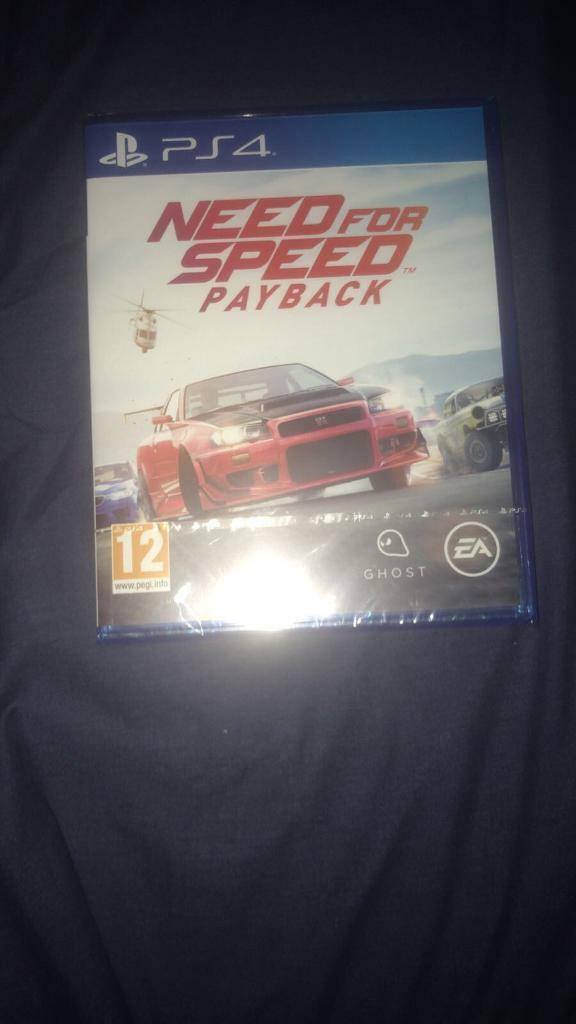 Need for Speed Payback PS4 2017