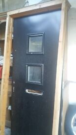 Steel sheeted security door and frame