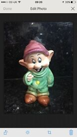 China Disney large dopey figure from Snow White & 7 drarfs - made in Japan