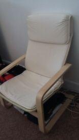 Ikea Cream White Wooden Chair