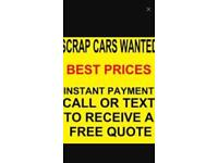 Money for scrap cars and vans