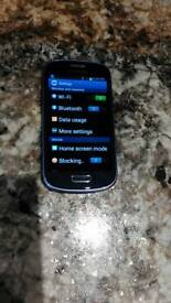 Samsung Galaxy S3 Mini in great condition on Tesco/O2 networks. Blue in colour
