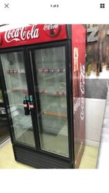 Retail Coca Cola double fronted fridge for sale