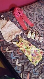 Baby Girls Bundle of Clothes and Bumbo Seat