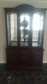 glass display cabinet in good condition
