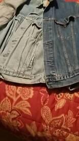 Levi jackets x2 light blue & dark blue
