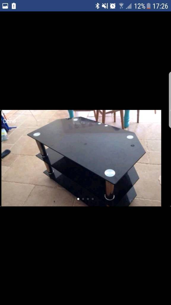 Panasonic glass tv stand