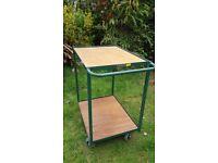 TROLLEY Industrial Tray/shelf picking , 2 shelf, metal frame, 100kg load