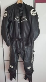 Furygan leather two piece suit, size 46