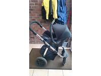 Kiddicare Imax Elite Pram Pushchair Travel System Maxi Cosi Cabriofix