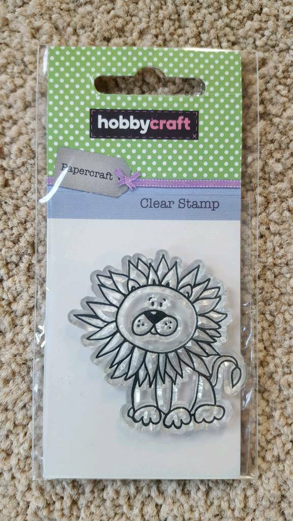 HOBBYCRAFT LION CLEAR RUBBER STAMP - BRAND NEW