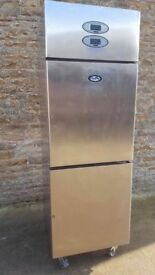 FOSTERS FRIDGE FREEZER STAINLESS