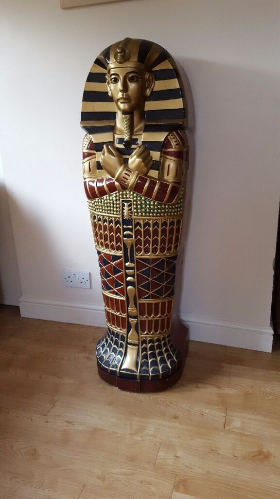 Egyptian Sarcophagus Dvd Cd Cabinet In Kilmacolm