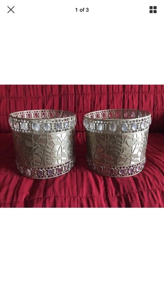 2 pretty lamp shades or ceiling pendants