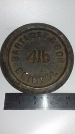 Vintage Bartlett & Son Bristol 4lb weight