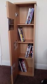 CD/DVD Stand unit X2 Matching beach effect. With door. Free standing. Good condition.