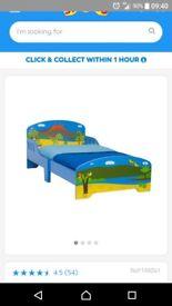 Toddler bed & matress