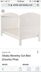 White cot never been used