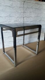 VINTAGE RETRO 1960S PERSPEX CHROME SIDE TABLE