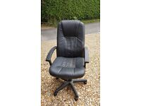 Swivel leather office chair.