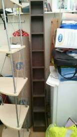 Slim shelving unit