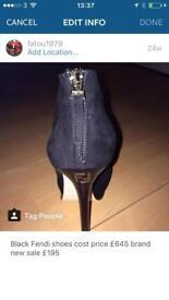Fendi Black Platform shoes