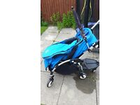 Bugaboo bee pram, carasol, baby snug, fixings for car seat, rain cover, buggy board