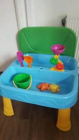 Plastic sand and water play