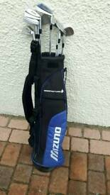 Mizuno pencil bag and irons