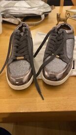Jimmy choo silver trainers