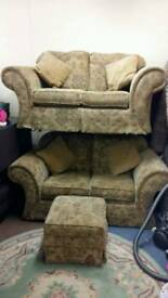 2 sofa's and pouffe. Gc delivery possible