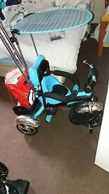 Kids 3 in 1 trike with Sun shade n basket n straps excellent condition collection only