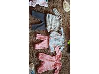 Big bundle of baby girls new born clothes